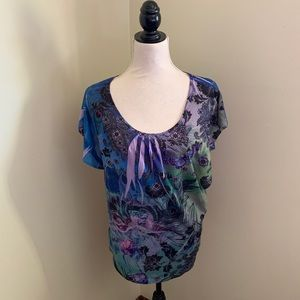 EUC Notations sparkly butterfly top